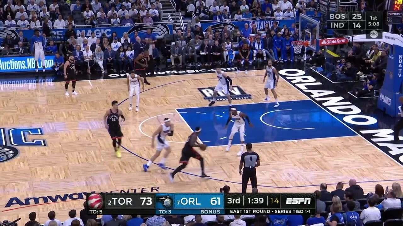 Melhores momentos: Toronto Raptors 98 x 93 Orlando Magic pela NBA