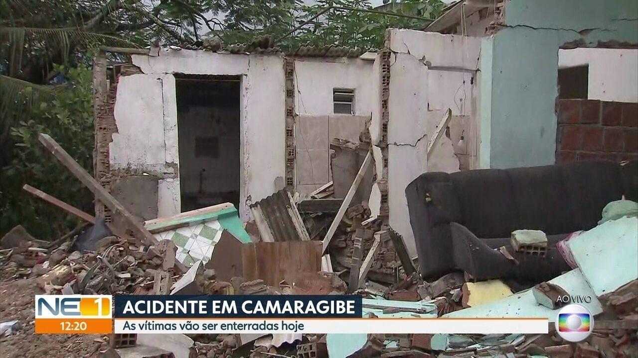 Defesa Civil condena imóveis na área de explosão e vítimas são veladas em Camaragibe