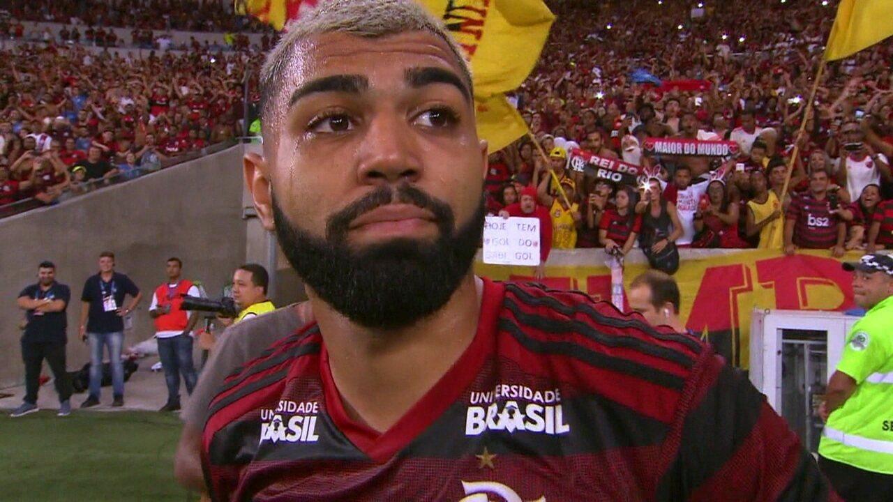 """Gabriel comemora primeiro título com a camisa do Flamengo: """" O melhor venceu"""""""