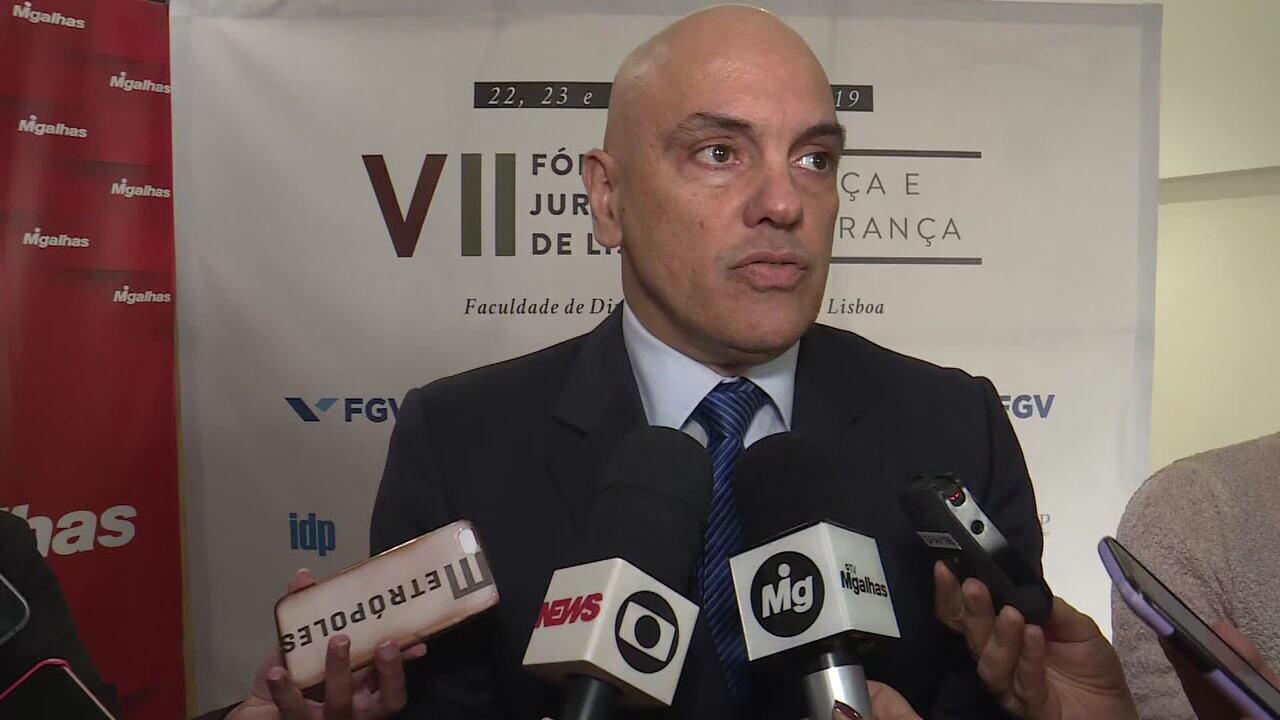 Alexandre de Moraes diz que inquérito que apura ofensas ao STF vai continuar