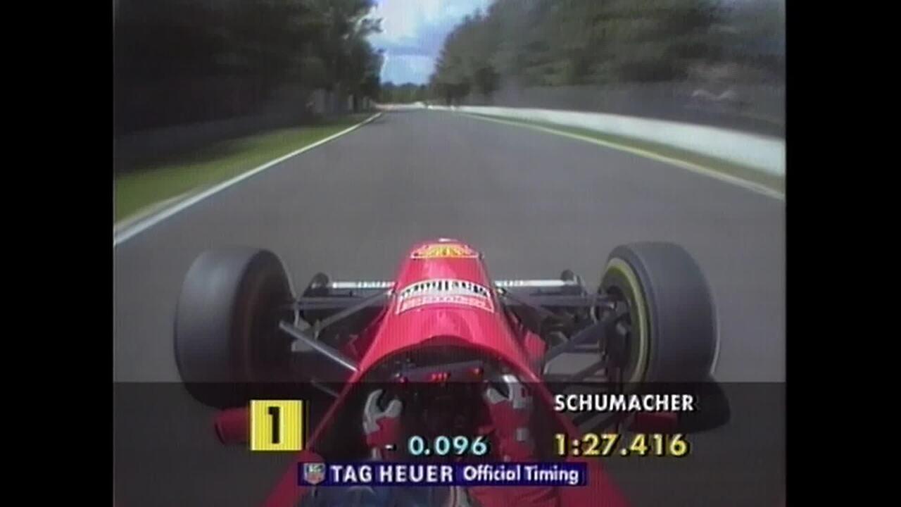 Volta de Michael Schumacher nos treinos em Imola em 1996