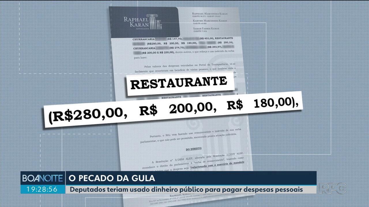 Ong denuncia deputados que teriam usado irregularmente dinheiro público pra pagar refeição