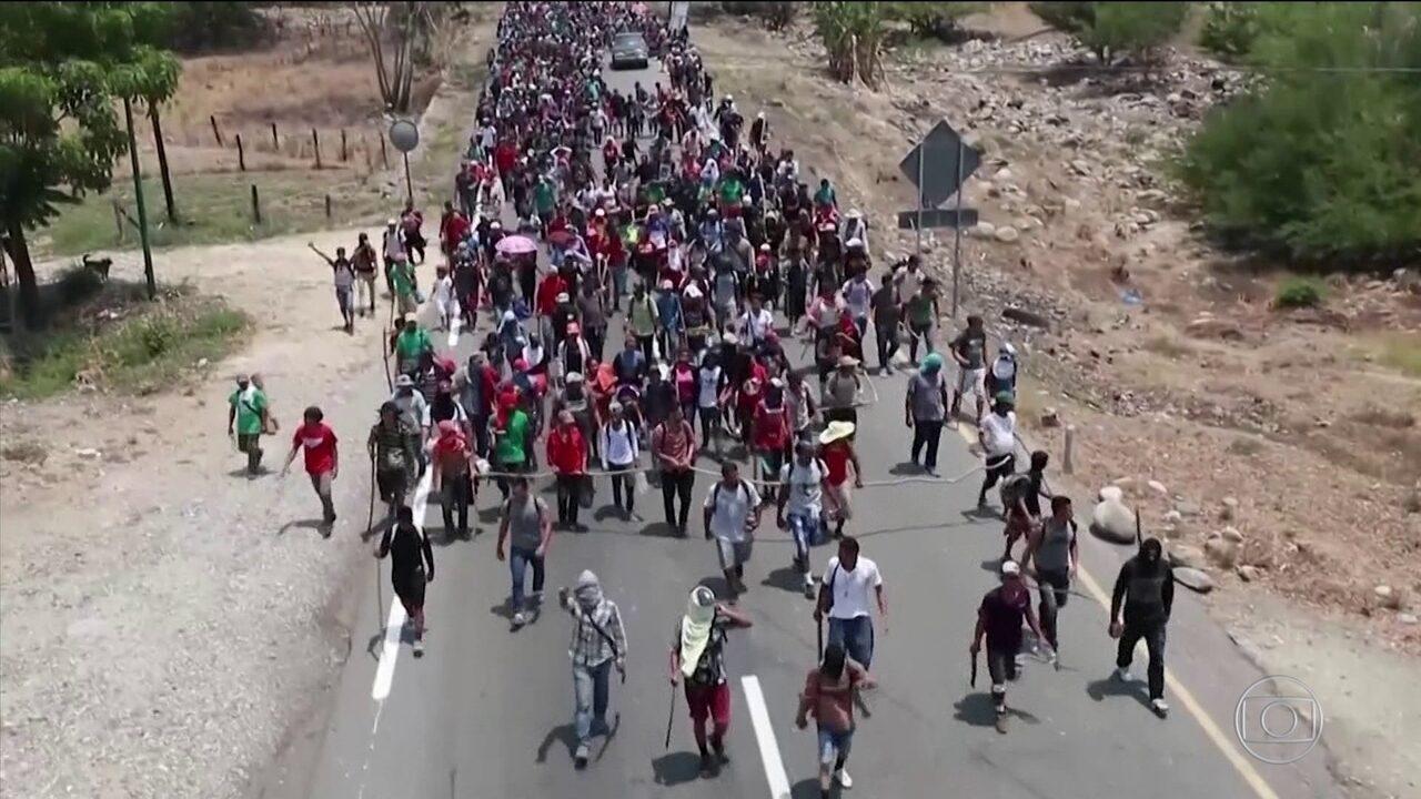 Polícia mexicana prende centenas de imigrantes ilegais rumo aos EUA