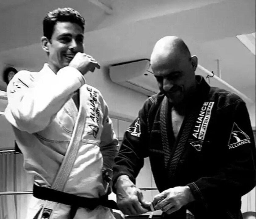 Cauã Reymond no jiu-jitsu