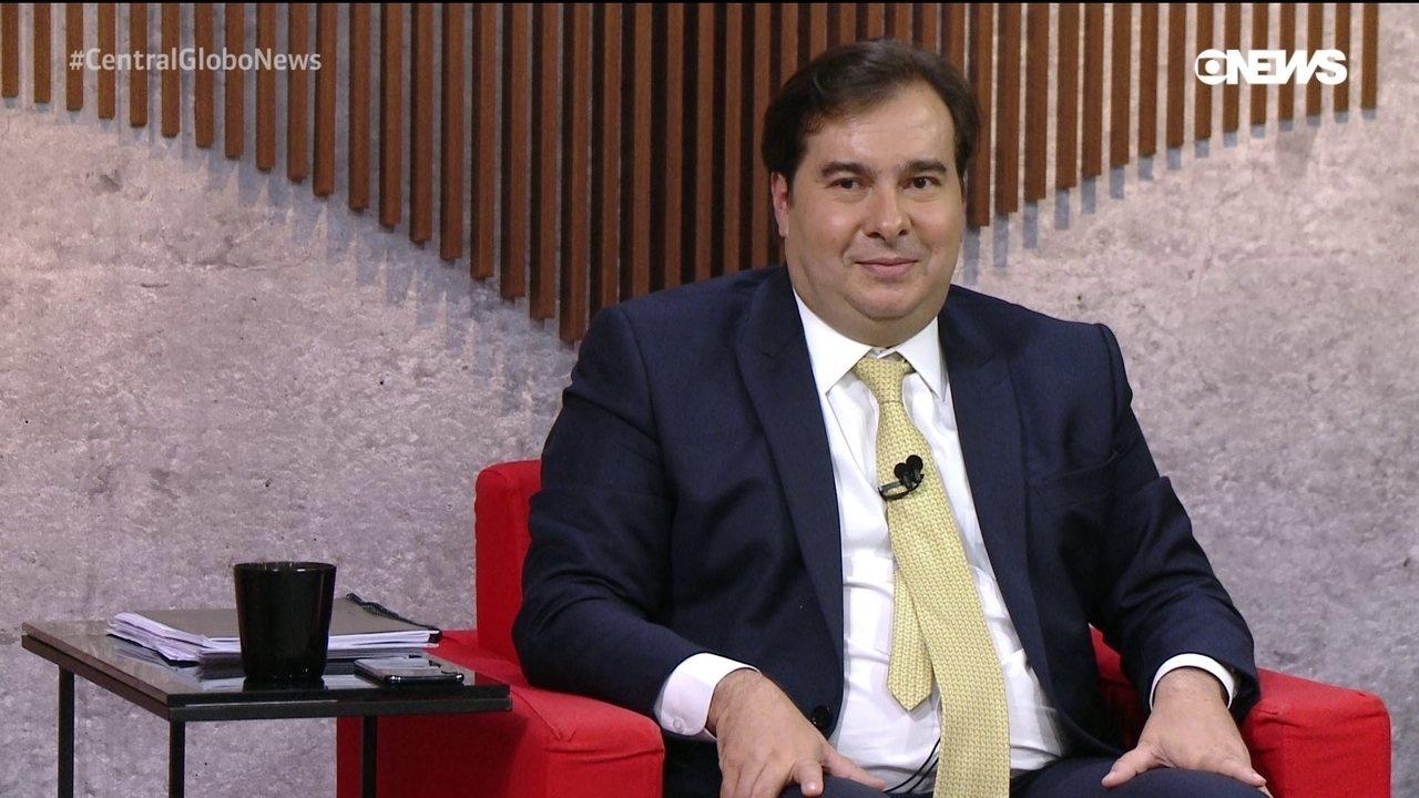 Rodrigo Maia, o homem forte da Câmara dos Deputados, concede entrevista à GloboNews