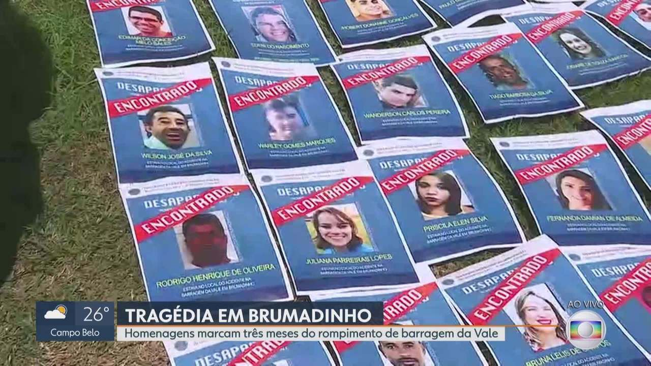 Brumadinho, 12h28: 1 minuto de silêncio pelas vidas perdidas em rompimento de barragem