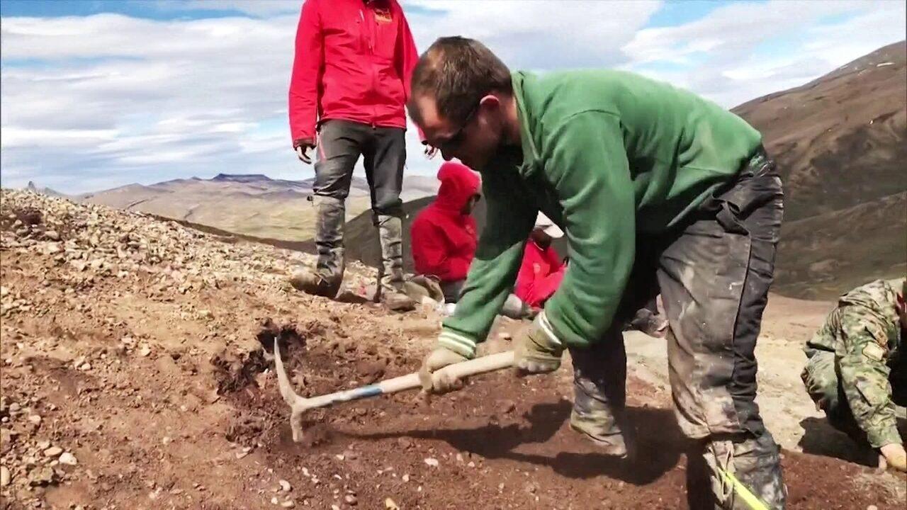 Paleontólogos buscam fósseis de dinossauros na Patagônia Chilena