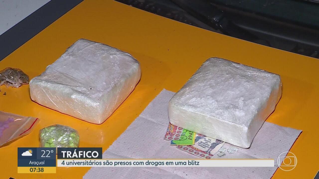 Universitários são presos suspeitos de envolvimento com tráfico de drogas em MG
