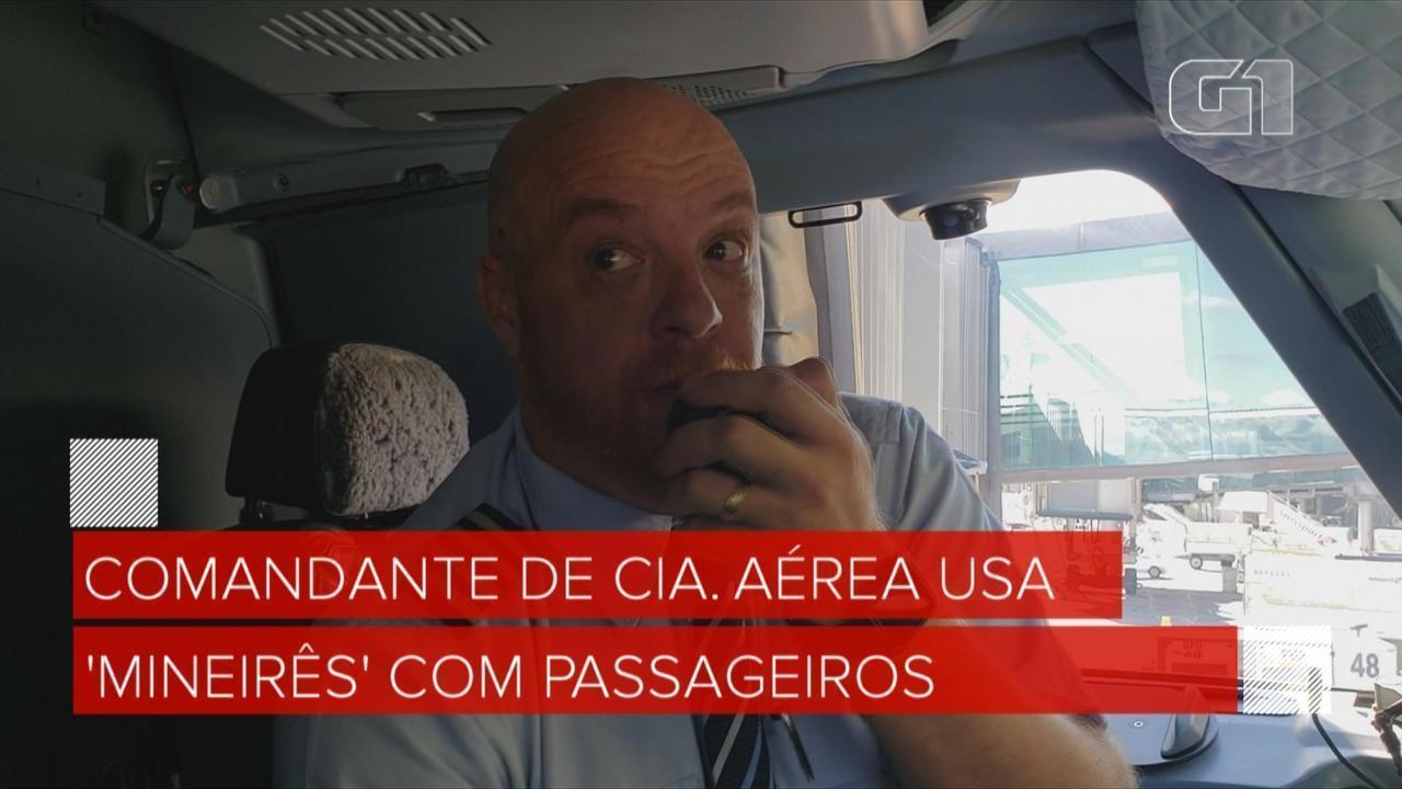 Comandante de cia. aérea conversa em 'mineirês' com passageiros