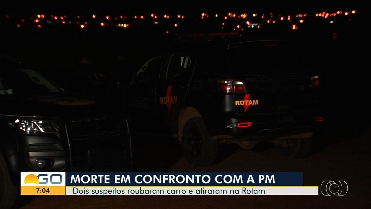 Dois suspeitos de roubo morrem em troca de tiros com a Rotam, em Aparecida de Goiânia