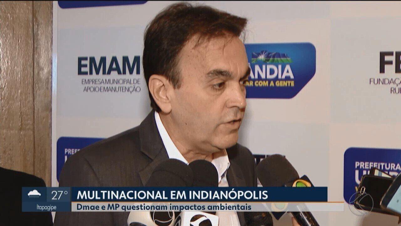 Instalação de multinacional em Indianópolis pode afetar sistema Capim Branco em Uberlândia