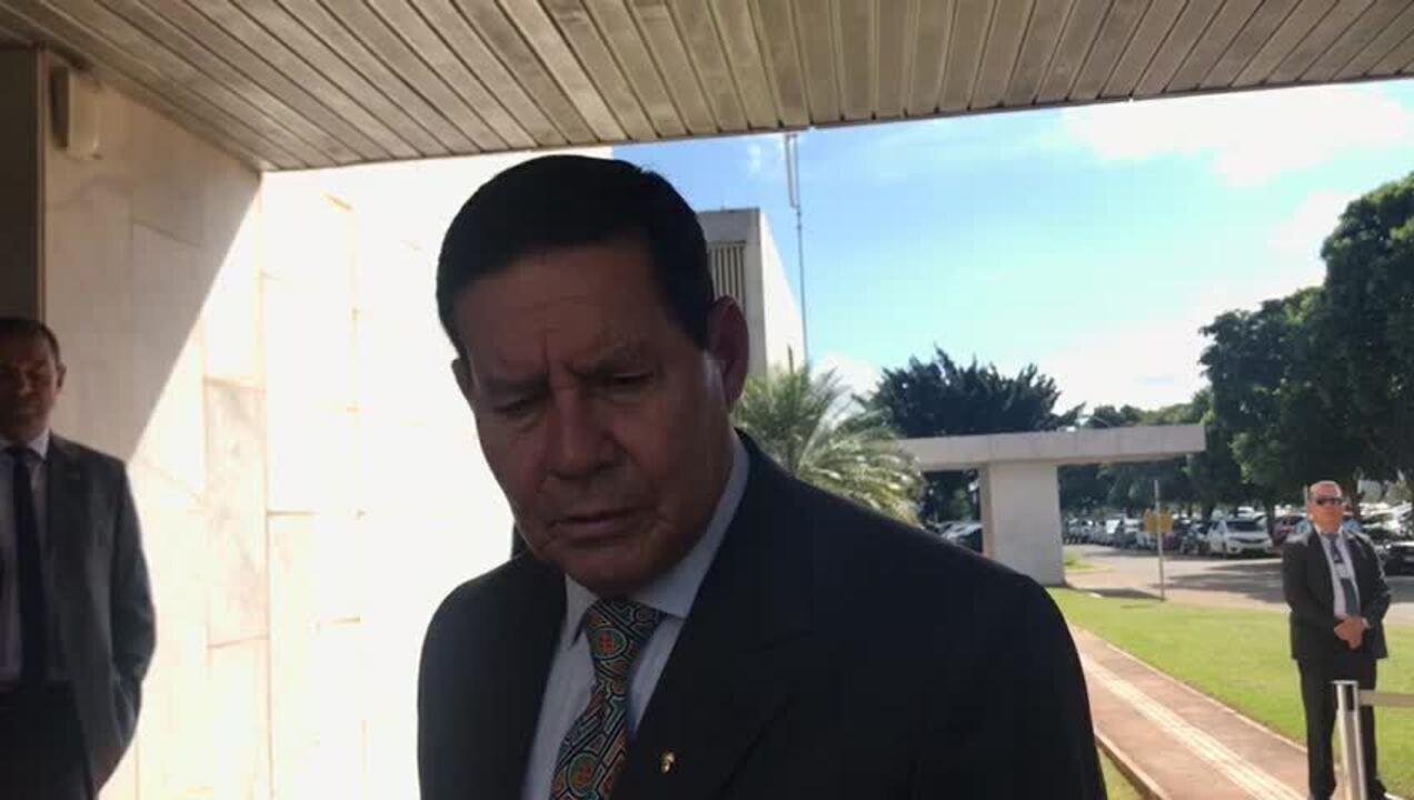 Mourão anuncia reunião no Planalto para discutir crise na Venezuela