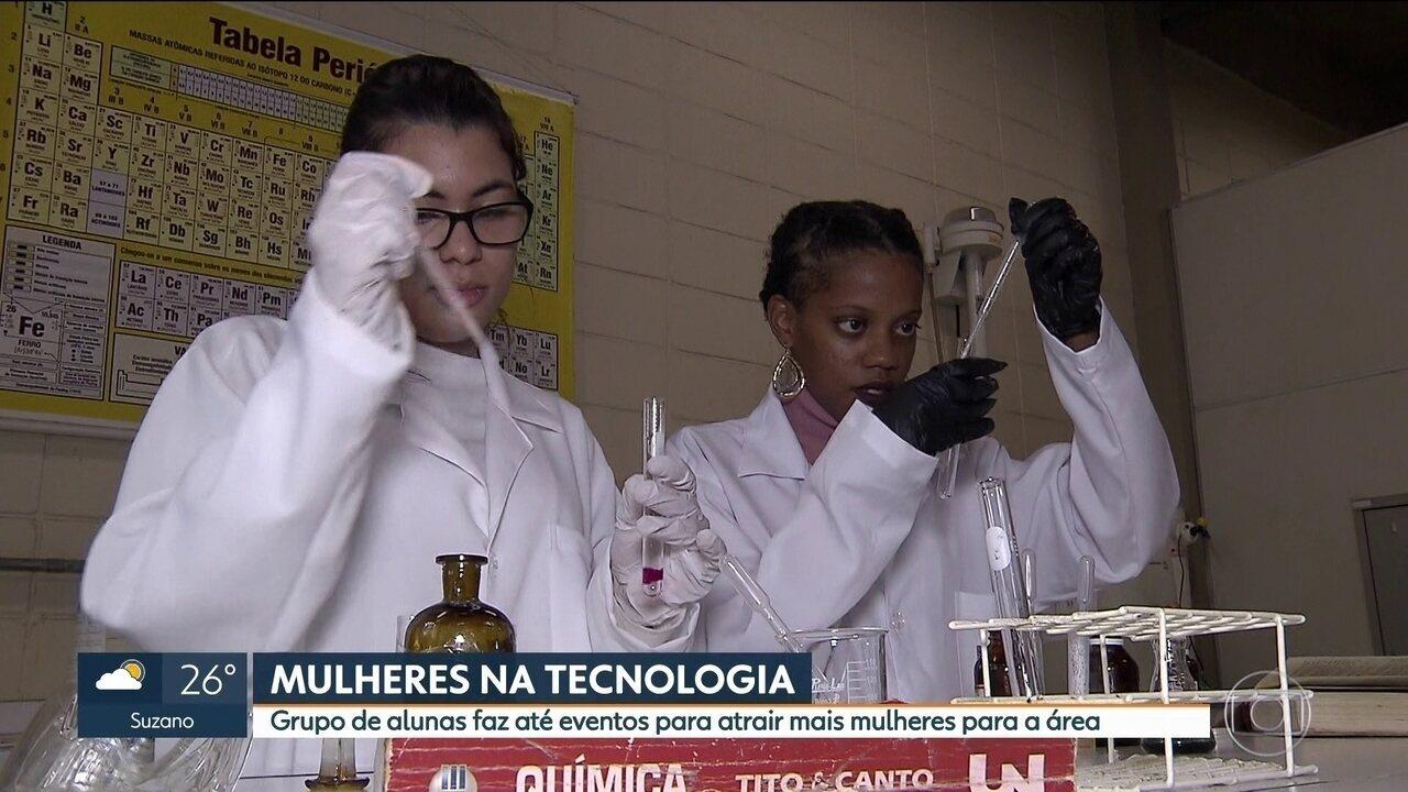 Grupo de alunas faz até eventos para atrair mais mulheres para a área de tecnologia