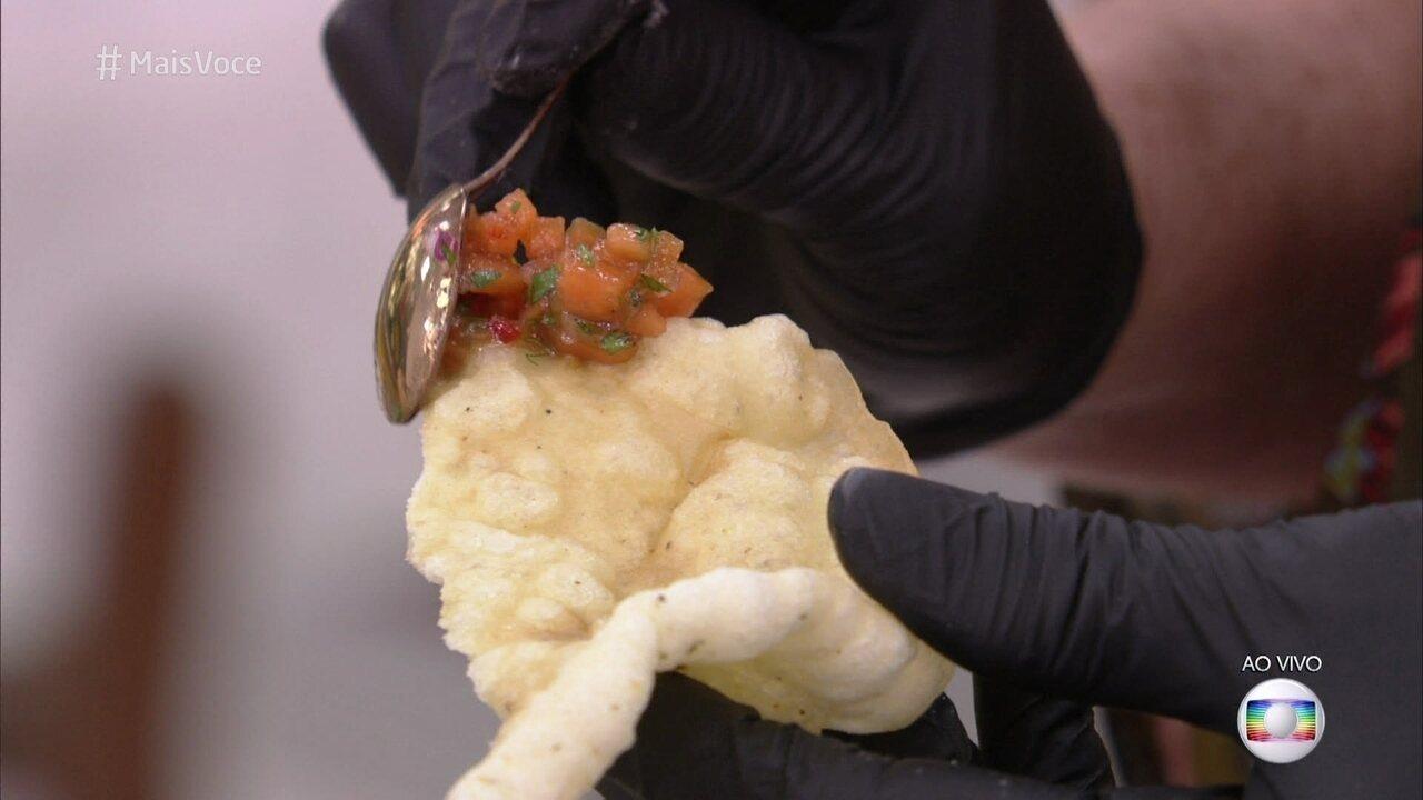 Pururuca Vegetariana com Tartar de Mamão