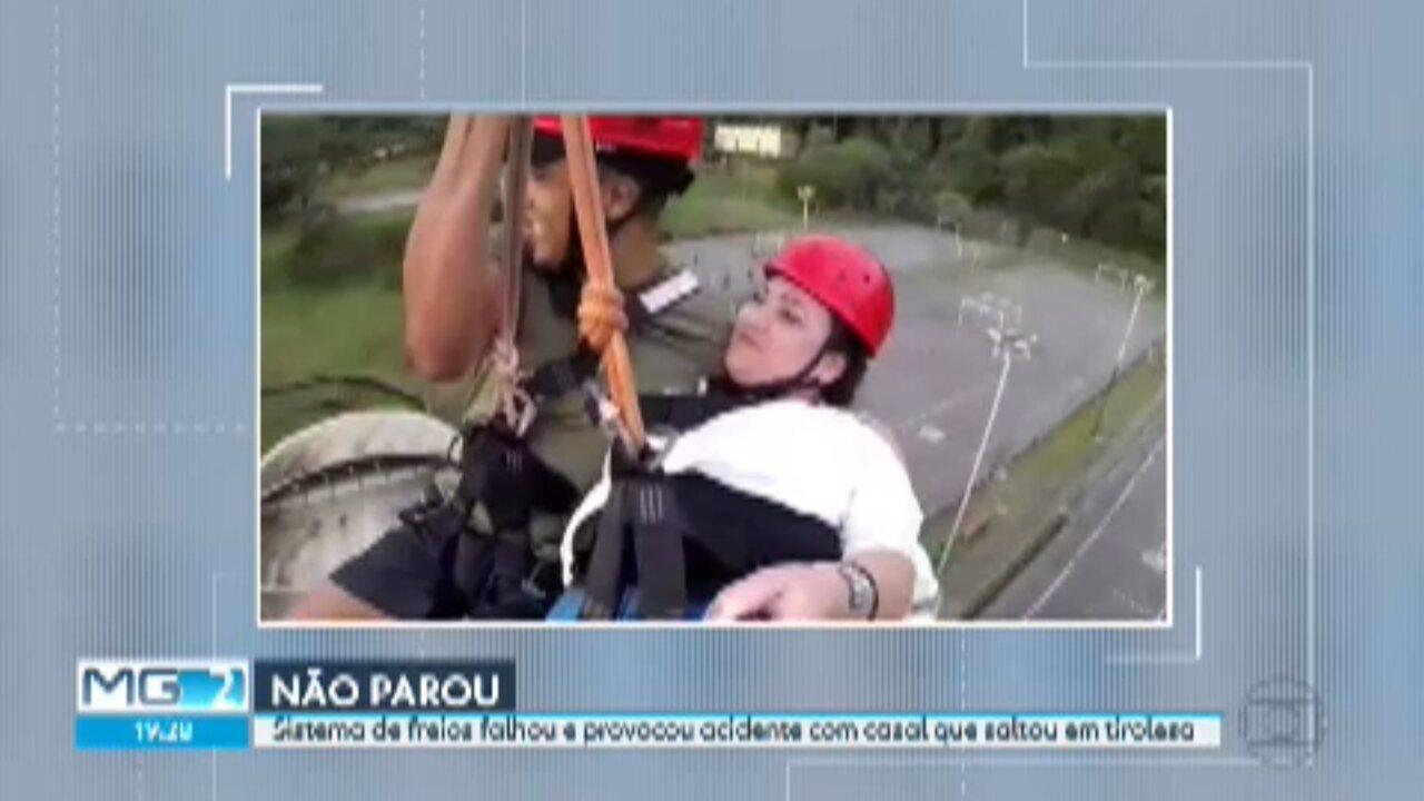 Mulher é ferida após falha em freio da tirolesa do Parque das Mangabeiras, em BH