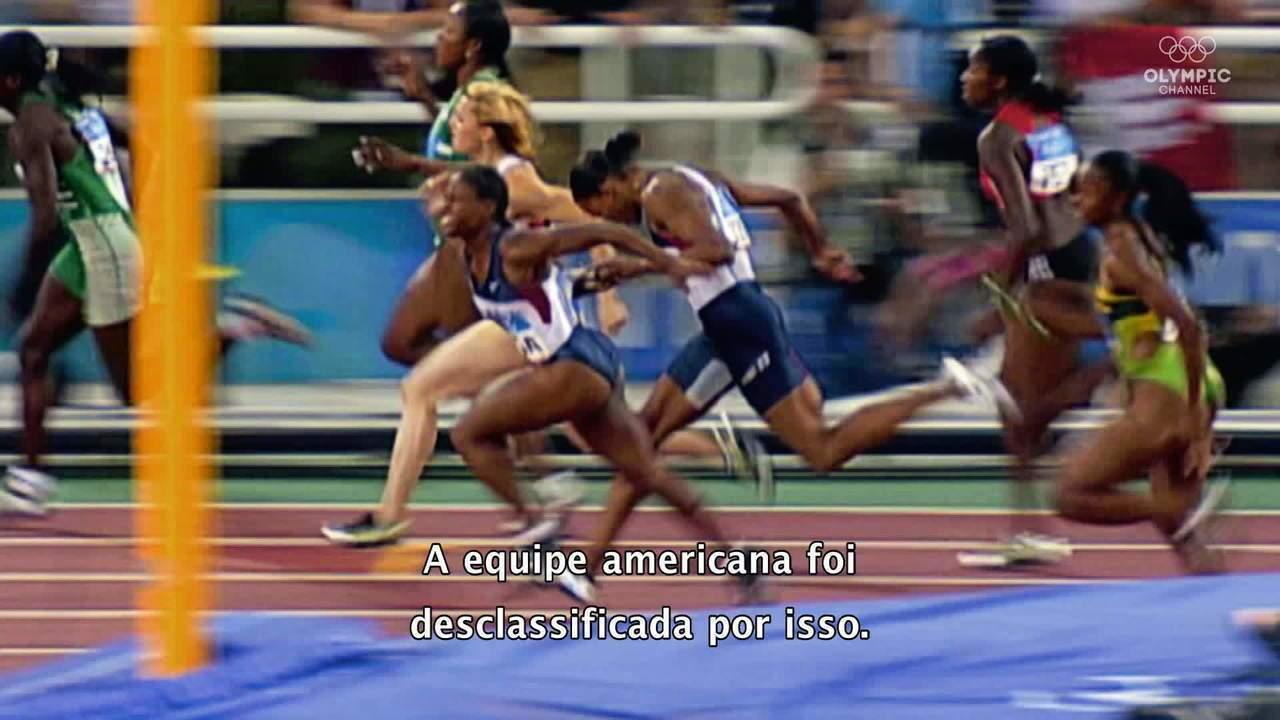 Revezamento 4x100m americano: erros e glória
