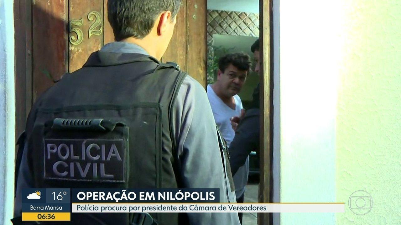Polícia prende presidente da Câmara de Vereadores de Nilópolis