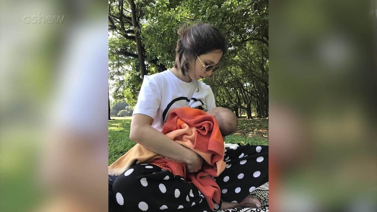 Daphne Bozaski fala sobre rotina com seu bebê