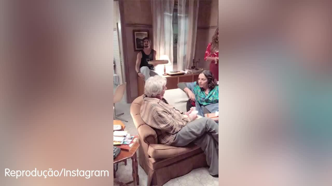 Agatha Moreira vibra com parceiros de cena de 'A Dona do Pedaço'