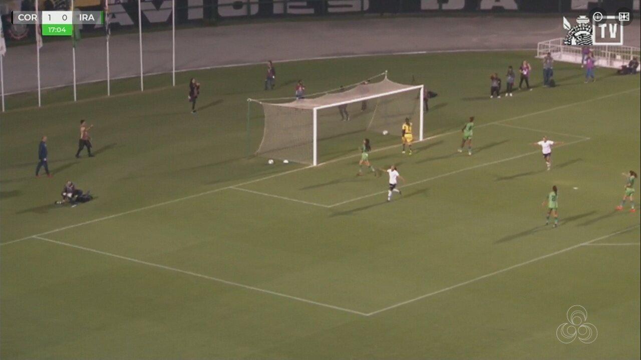 Veja os gols de Corinthians 3 x 1 Iranduba, pelo Brasileiro feminino