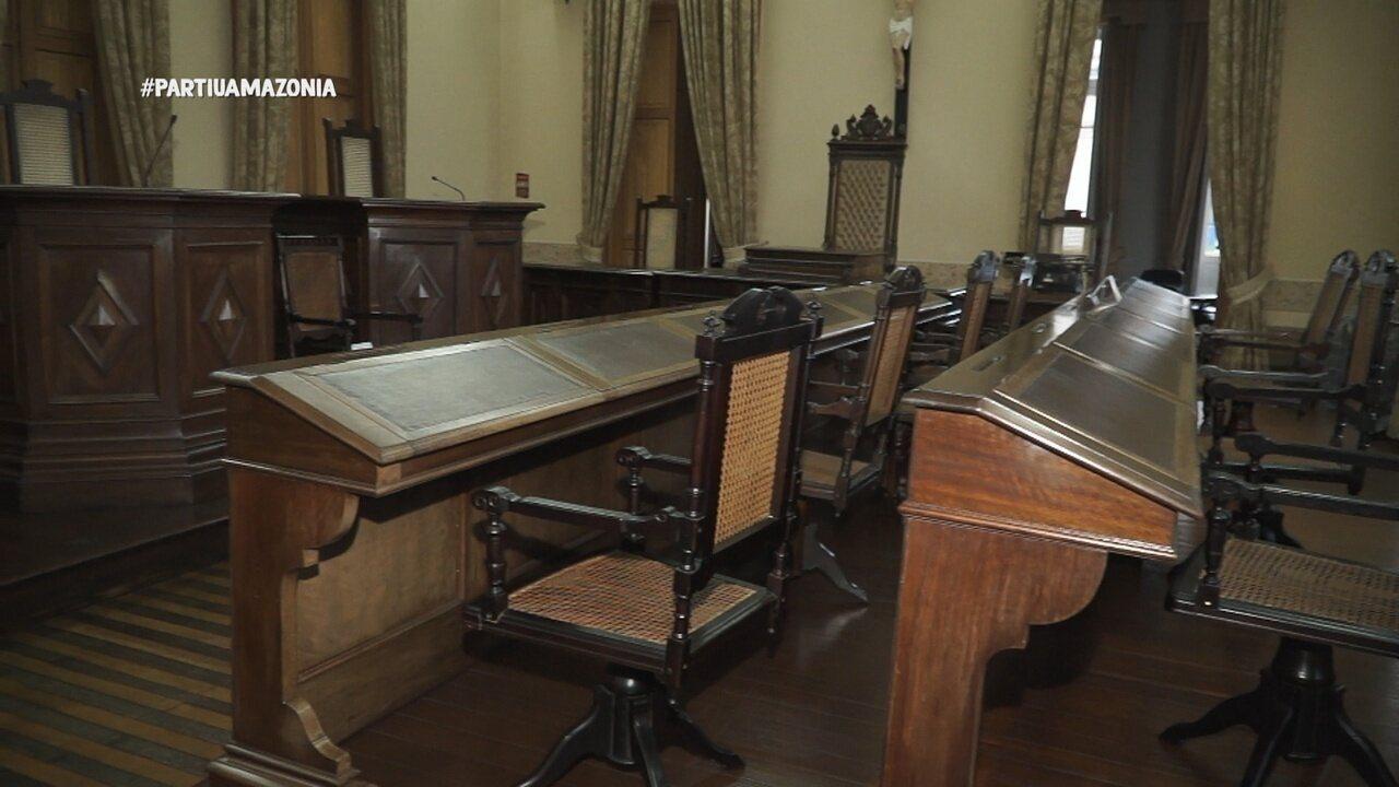 Parte 2: No Palácio da Justiça, apresentadora visita exposição sobre crimes