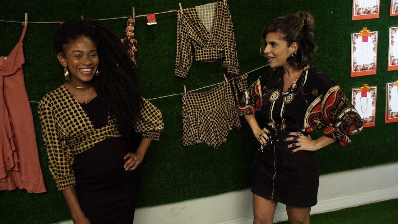 No 'Expresso', Paula Magalhães e Gleice Silva garimpam peças fashions para grávidas