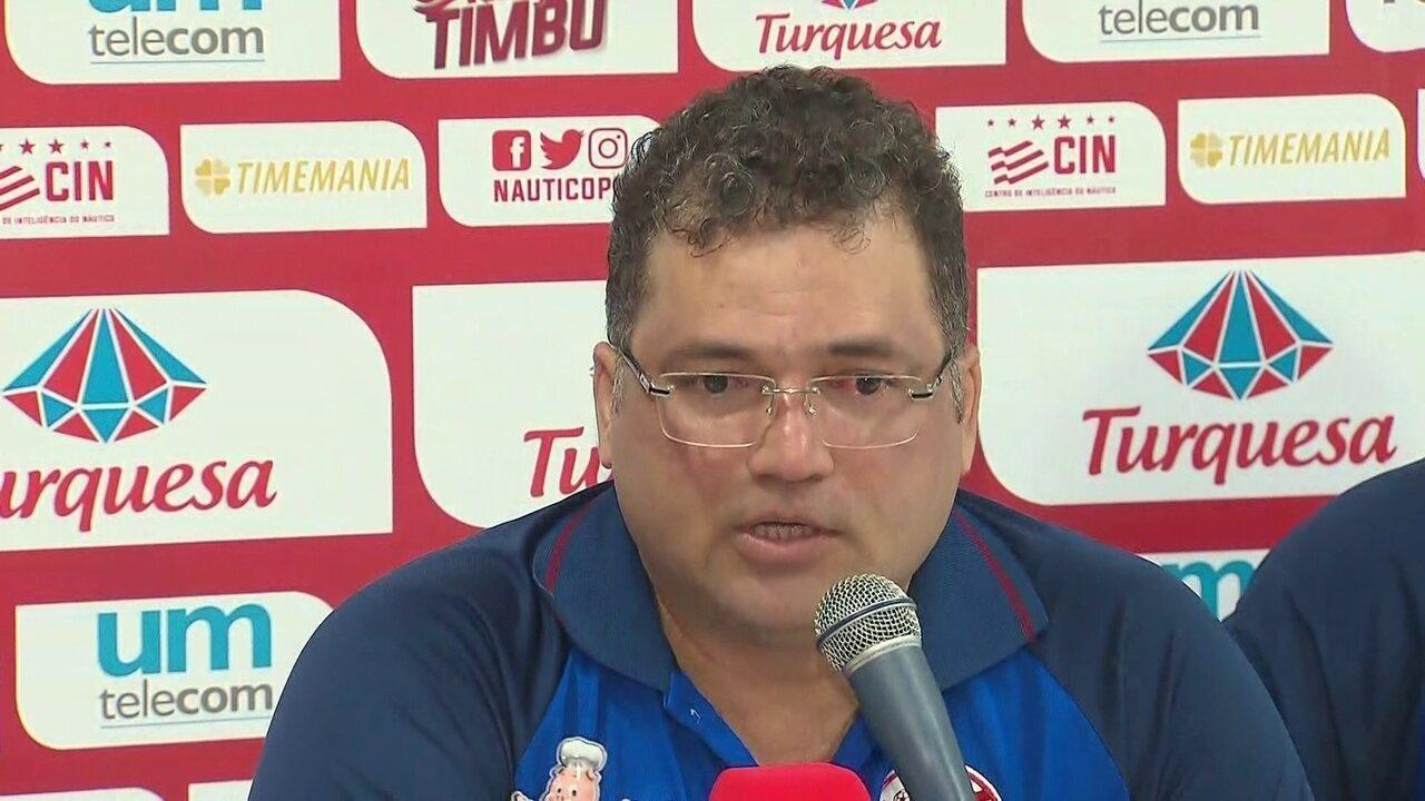 Diretoria do Náutico anuncia a demissão do técnico Márcio Goiano
