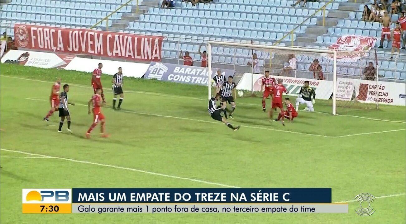 Confira os gols do empate do Treze diante do Imperatriz