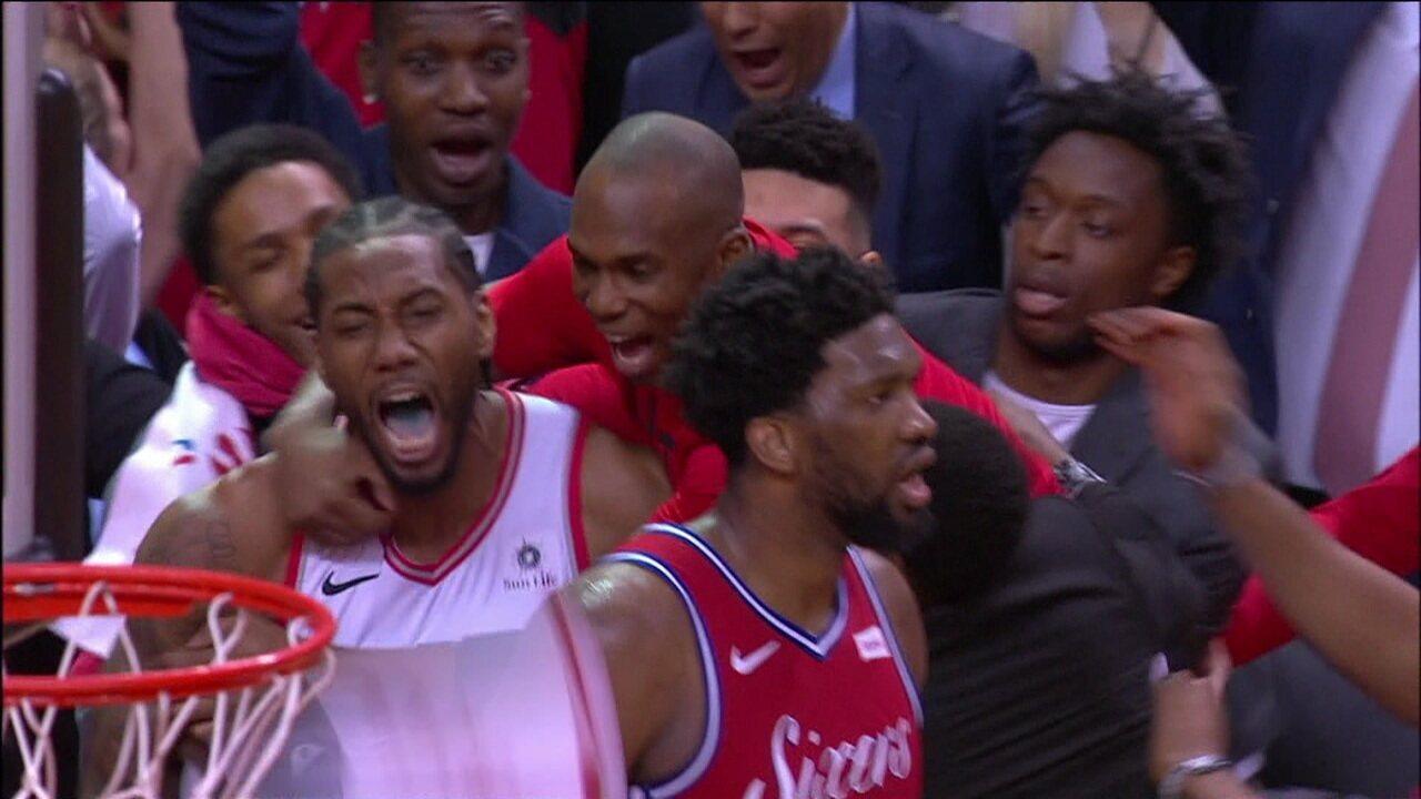 Kawhi Leonard converte cesta no estouro do cronômetro e coloca o Raptors na final do leste da NBA