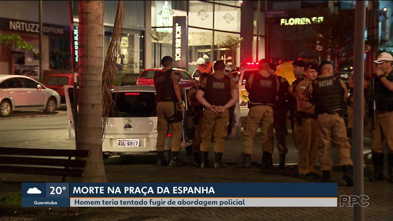 Jovem é morto a tiros pela polícia na Praça Espanha de Curitiba