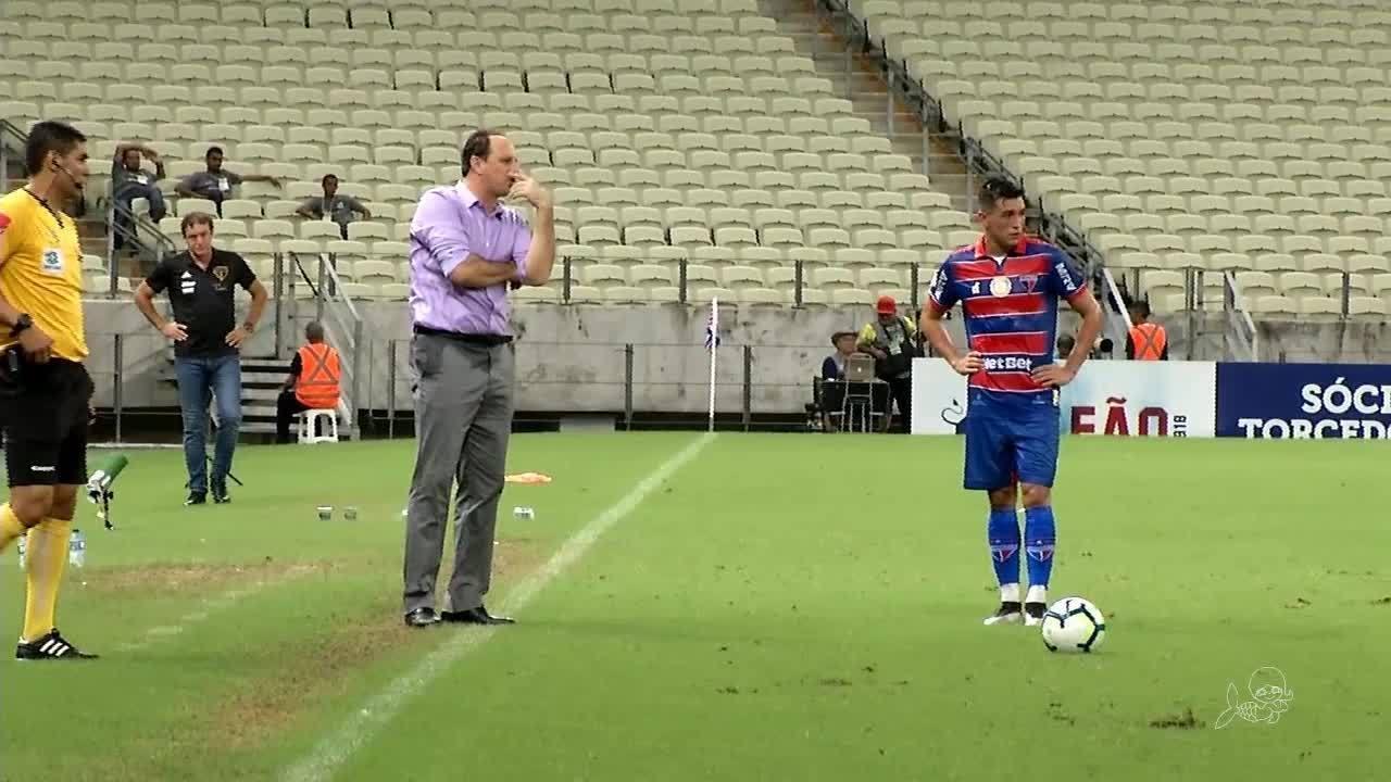 Em noite de homenagens para Ceni, Fortaleza perde para o São Paulo por 1 a 0