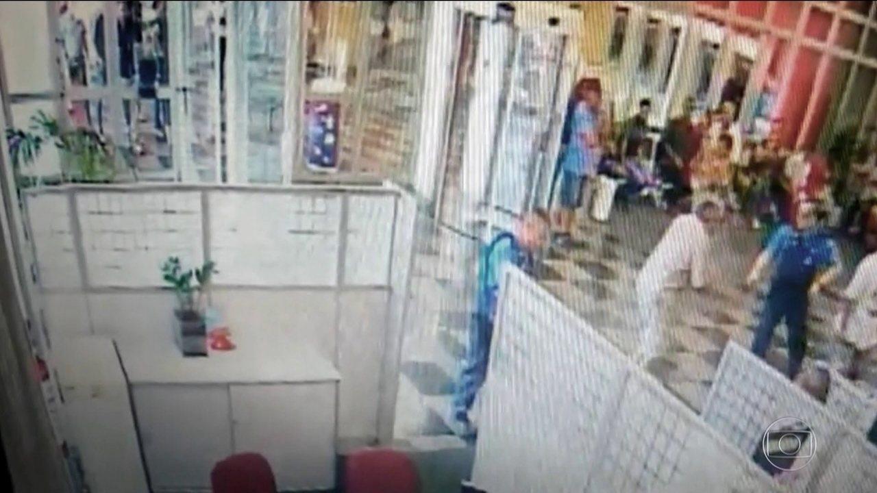 Está preso, em São Paulo, o vigia que atirou num cliente de 74 anos
