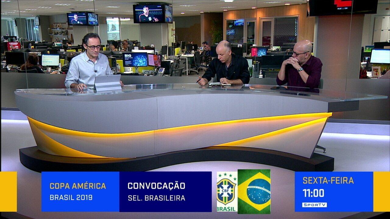 Comentaristas falam sobre situação de Neymar antes da convocação para a Copa a América