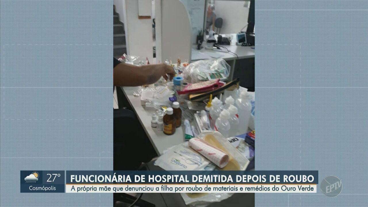 Funcionária que furtava materiais e remédios do Hospital Ouro Verde é detida em Campinas