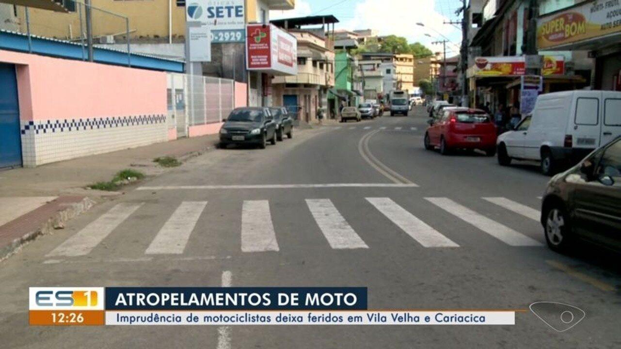 Imprudência de motociclistas deixa feridos em Vila Velha e Cariacica, ES