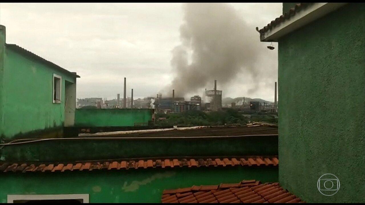 Explosão na CSN deixa cerca de 30 trabalhadores com sinais de intoxicação em Volta Redonda