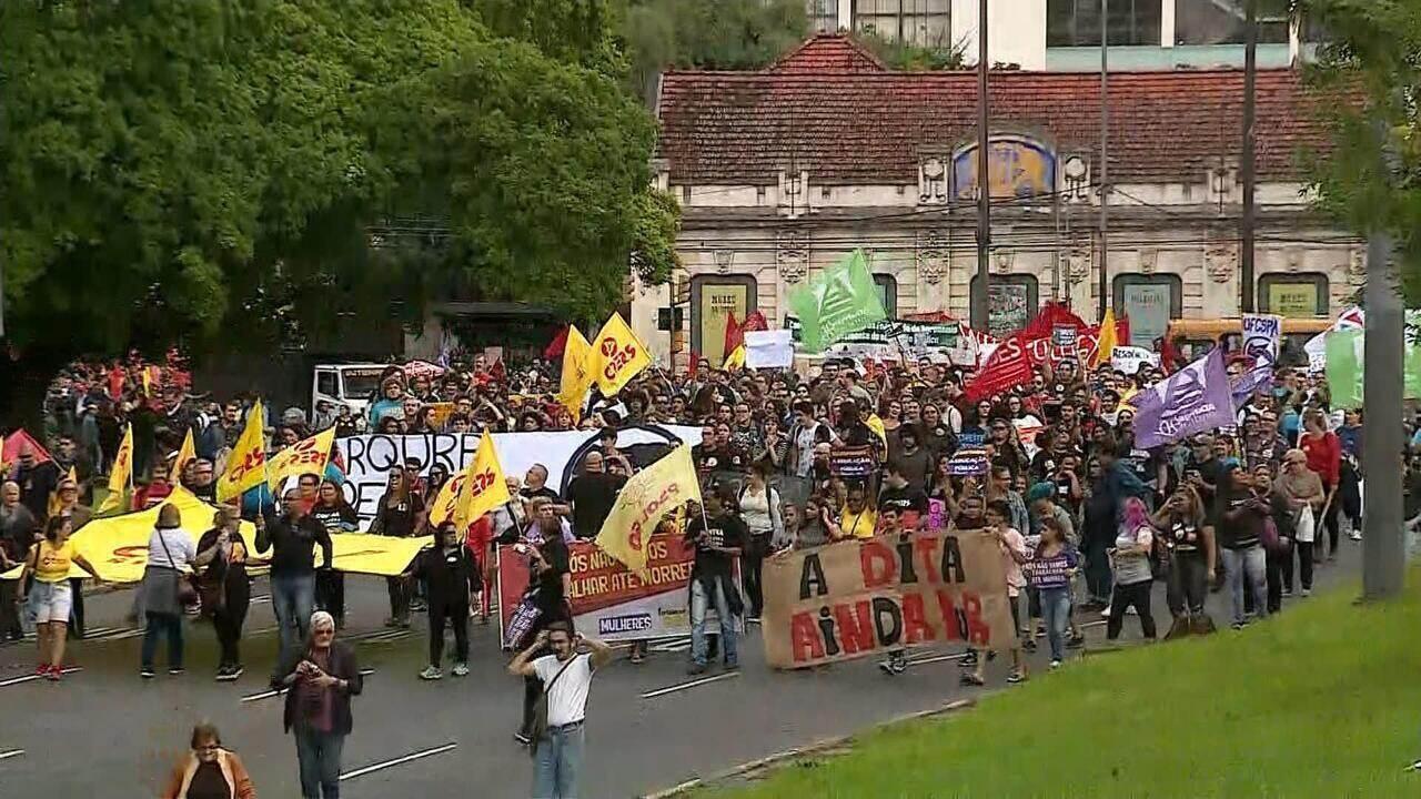 Quarta-feira (15) foi marcada pelas manifestações no RS