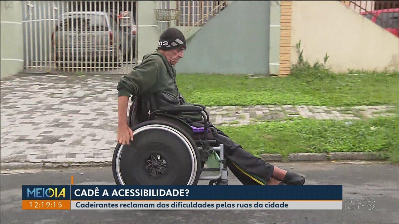 Cadeirantes reclamam da falta de acessibilidade