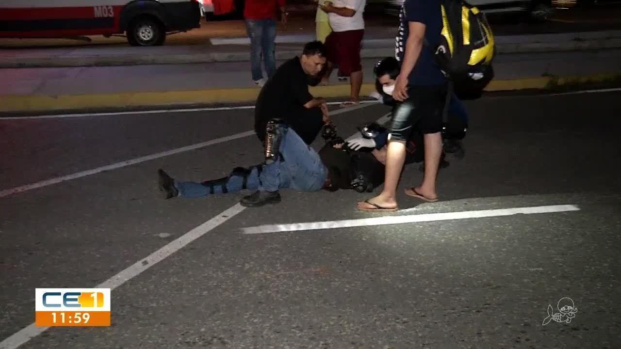 Idoso dorme na Via Expressa e é atropelado por motociclista