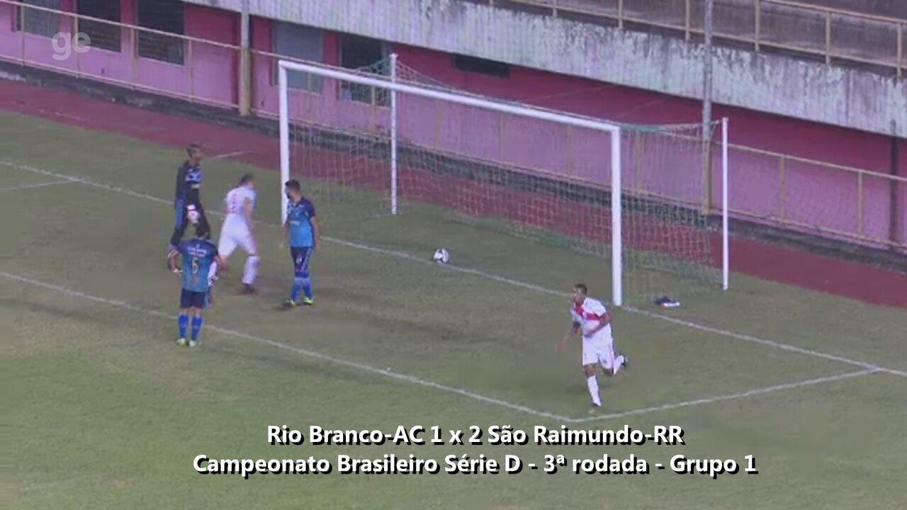Assista os gols de Rio Branco-AC 1 x 2 São Raimundo-RR, pela 3ª rodada da Série D
