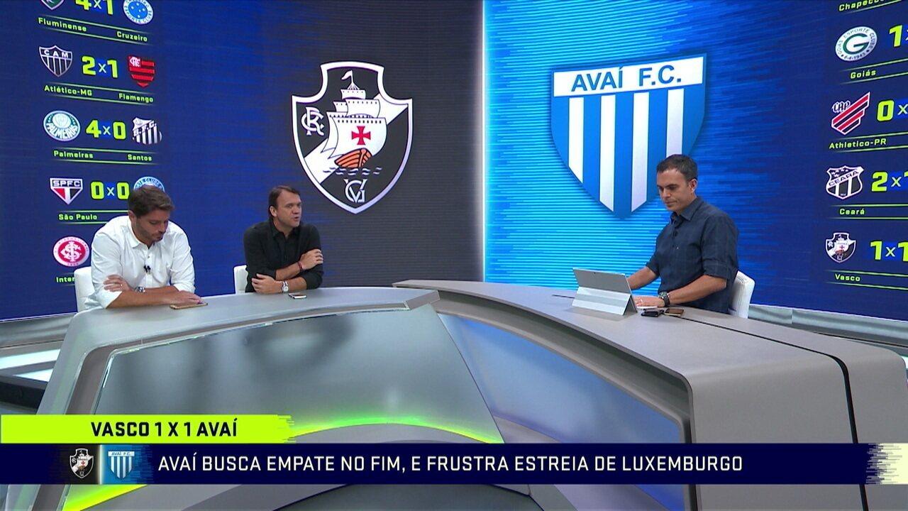 Comentaristas falam sobre empate do Vasco na estreia de Luxa