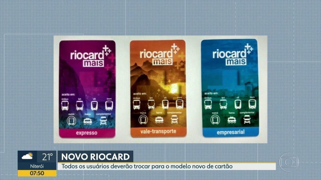 Começa hoje (20) a troca dos cartões do Riocard; saiba como fazer