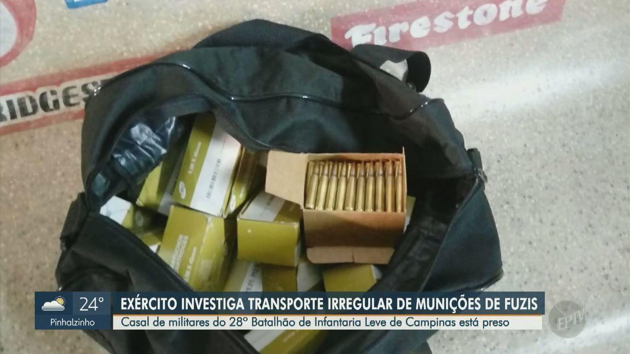 Casal de militares do exército de Campinas é preso com 1.397 munições de fuzis