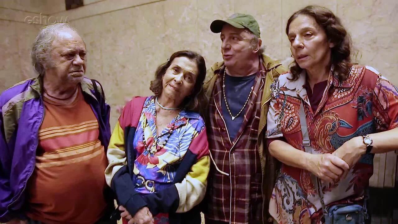 Elenco mostra os bastidores da cena da desocupação da família de Eusébio