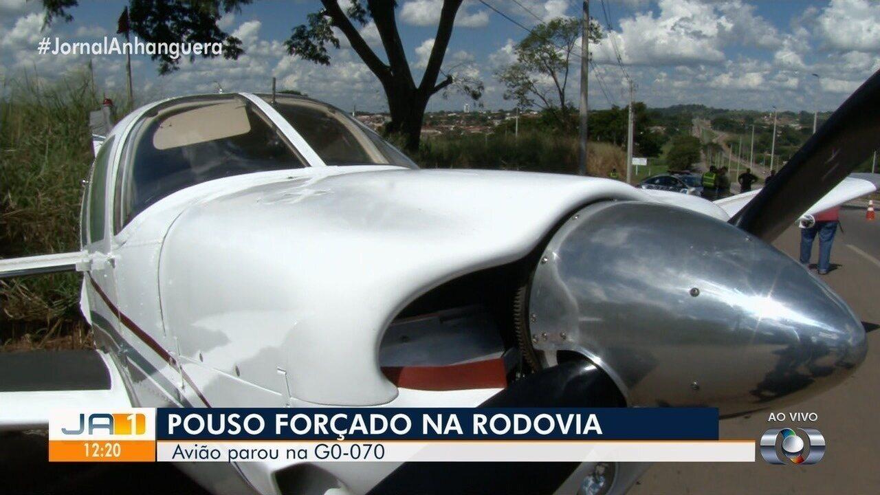 Aivião iria de Goiânia para o Pará quando precisou pousar na GO-070