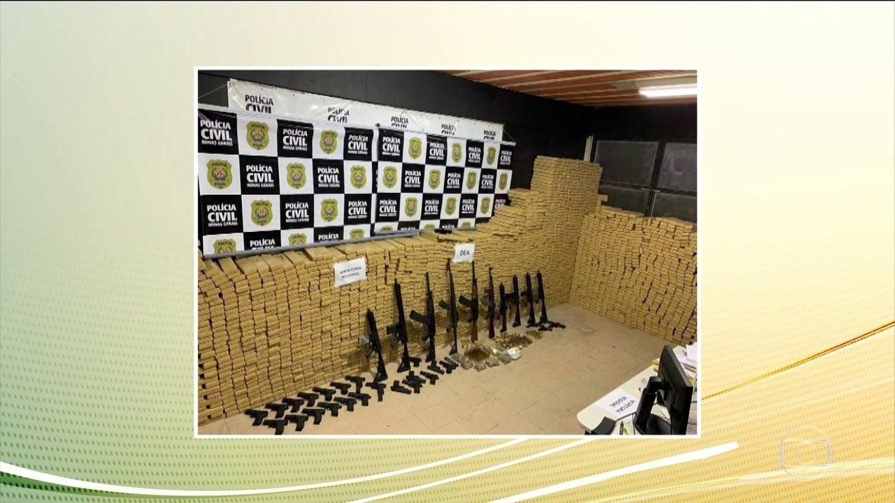 Polícia Civil realiza a maior apreensão de drogas do ano no estado de Minas Gerais
