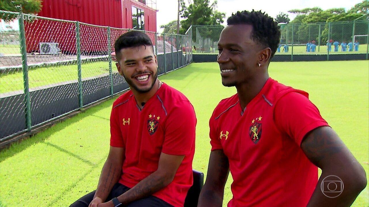 Entre reservas do Sport, Landrinho e Hyuri têm afinidade desde antes de chegar no Leão
