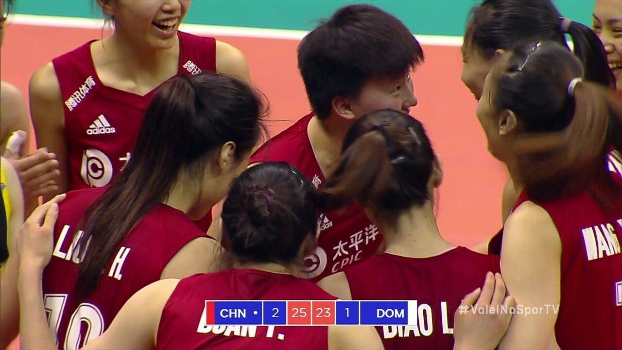 Melhores momentos: China 3 x 1 República Dominicana pela Liga das Nações de Vôlei Feminino
