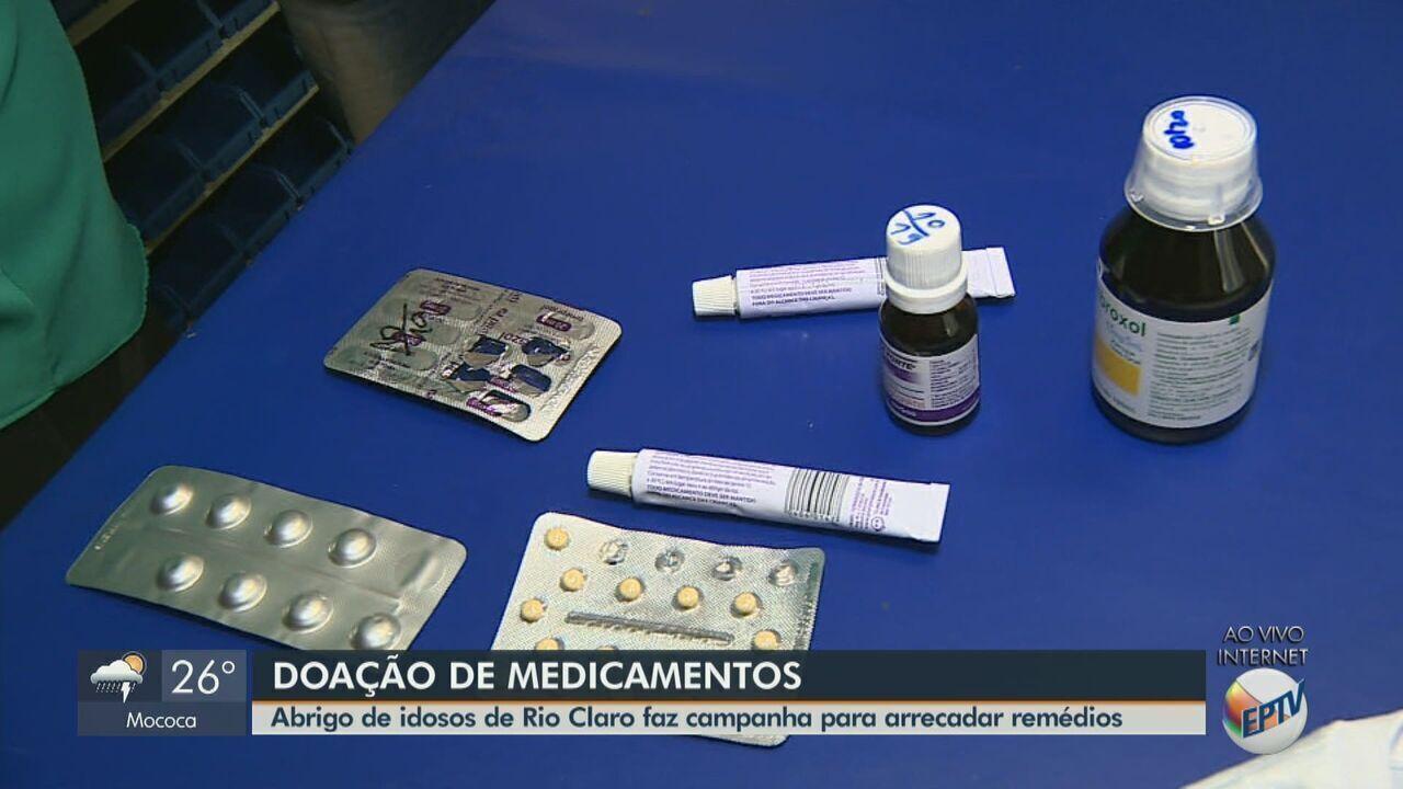 Abrigo de idosos de Rio Claro faz campanha para arrecadar remédios