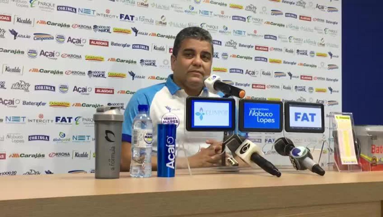 Marcelo Cabo fala do momento do CSA no Brasileiro